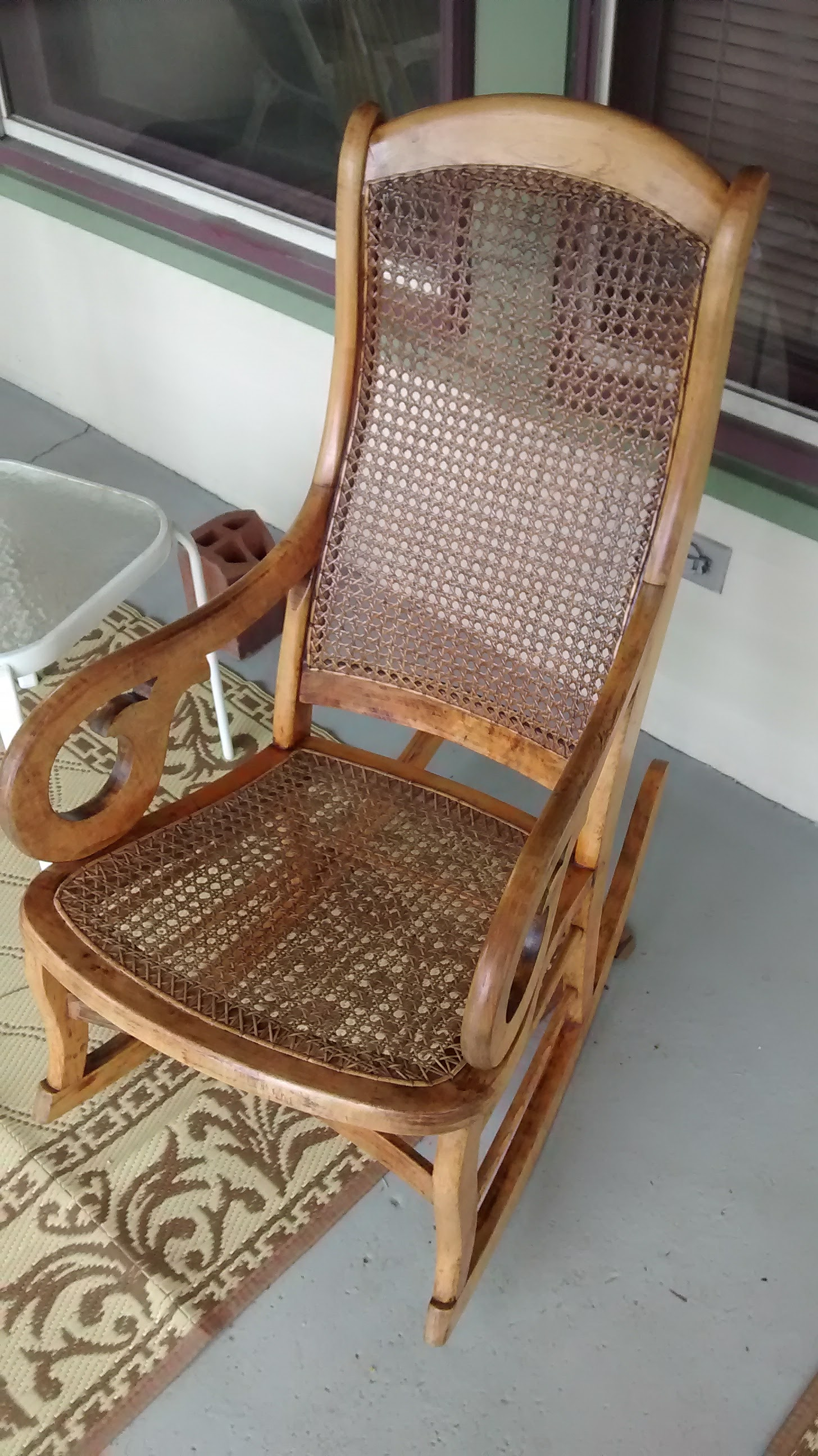 Rocker with New Seat Stained Match