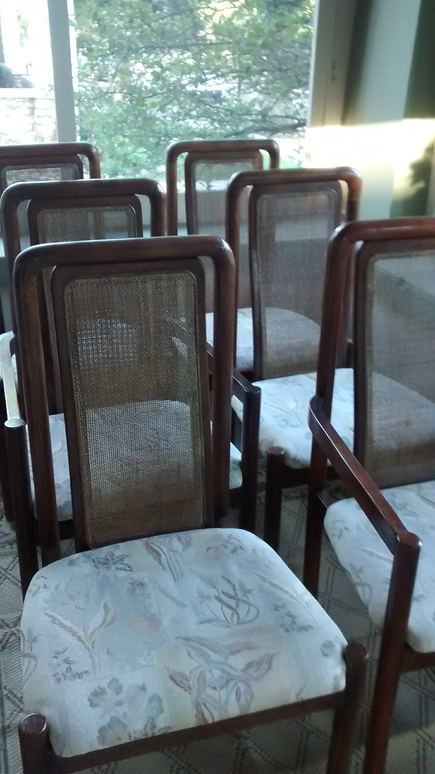 Set of Pressed-Caned Chairs