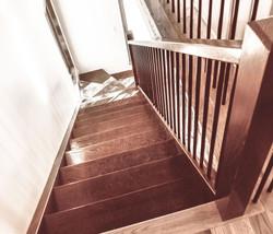 Escalier de bois,