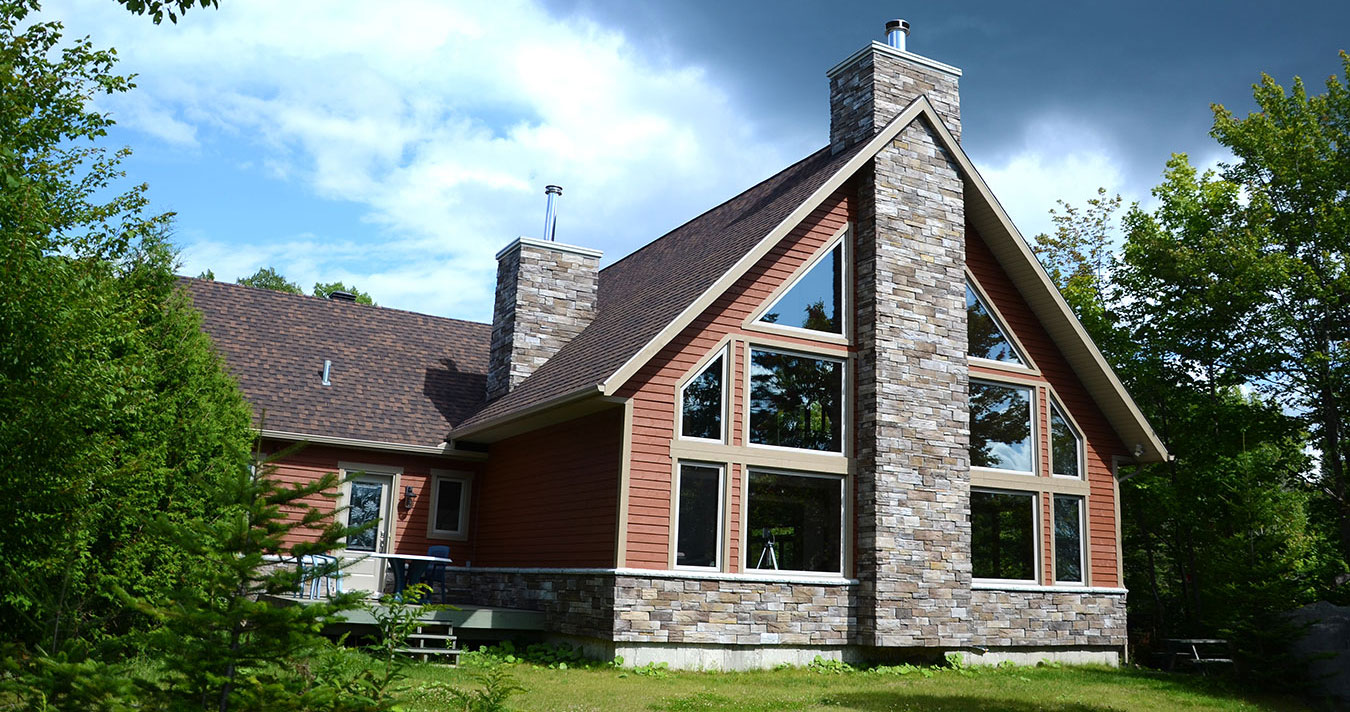 Installation  fenêtre mont tremblant