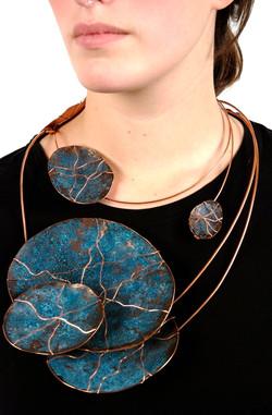 Water Stones Neck Piece - $120.00