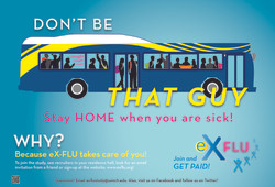 eX-FLU Bus Poster