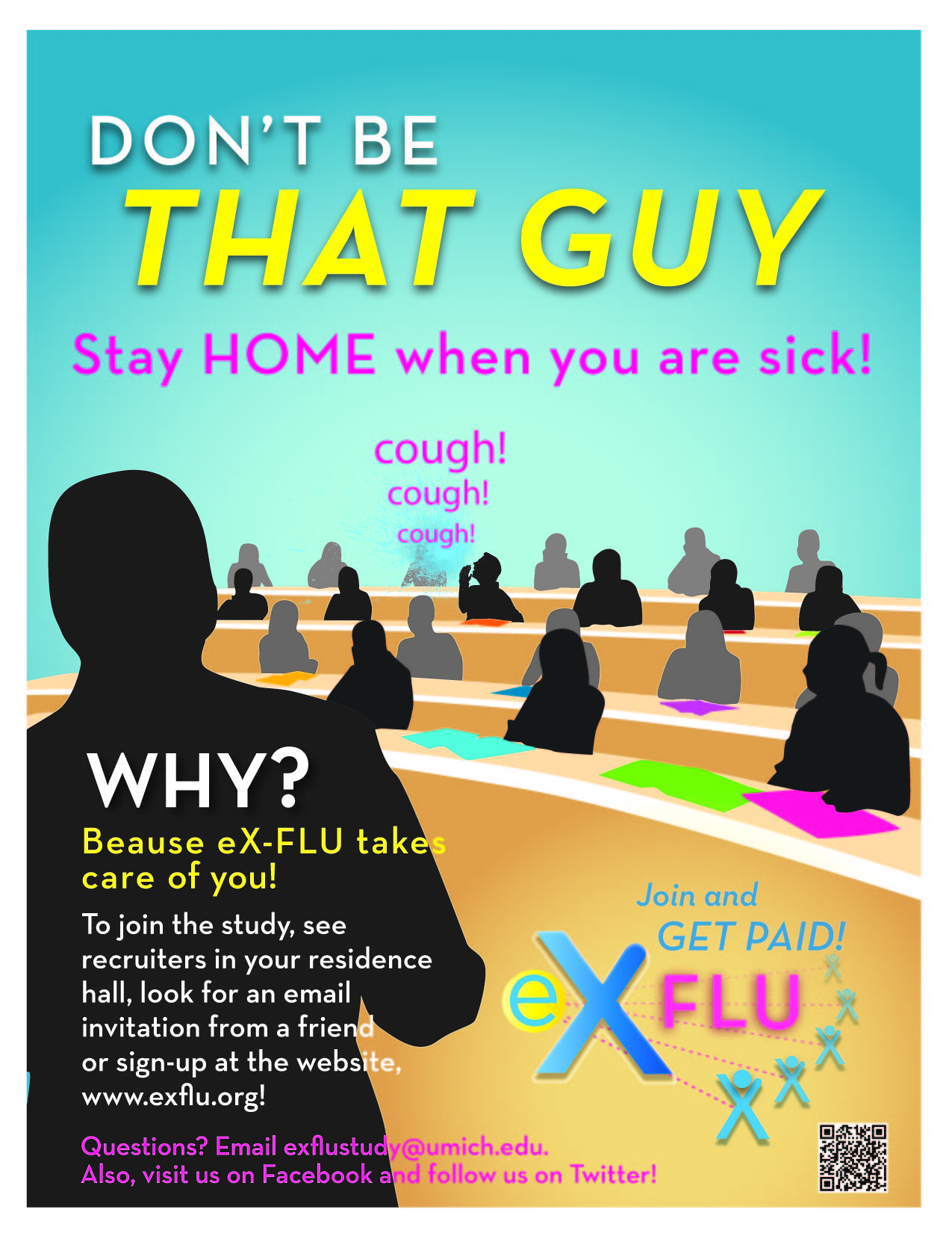 eX-FLU Dorms Poster