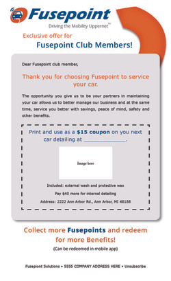 """Fusepoint """"Coupon"""" Email Template"""