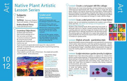 example Art lesson spread