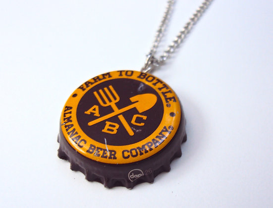 ABC Beer Cap Necklace