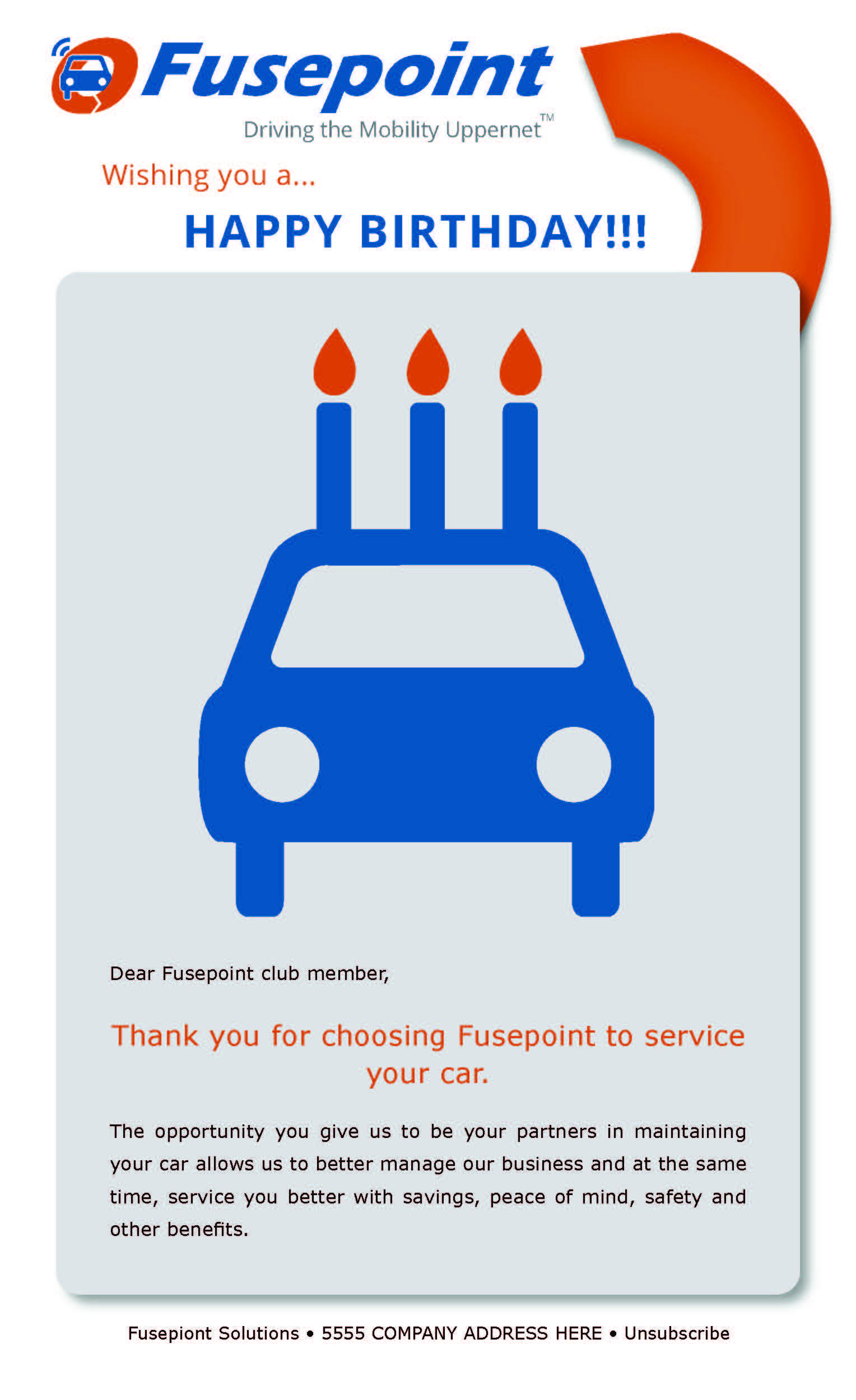 "Fusepoint ""Happy Birthday"" Email"