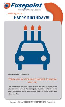 "Fusepoint ""Happy Birthday"" Email"