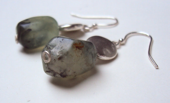 Green Quartz Earrings - SOLD OUT