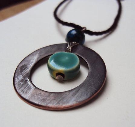 Bulls-eye Blue Necklace