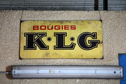38 - Plaque émaillée Bougies K.L.G (1)