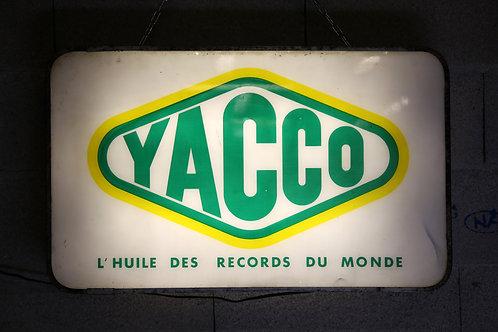 62 - Enseigne lumineuse recto/verso YACCO