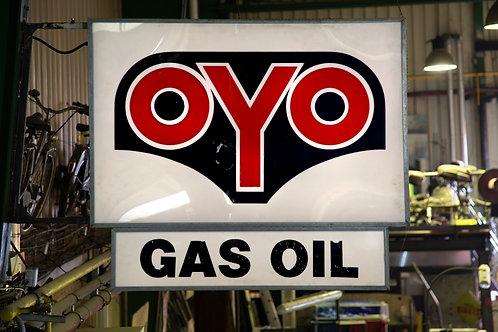51 - Enseigne lumineuse recto/verso OYO Gas Oil