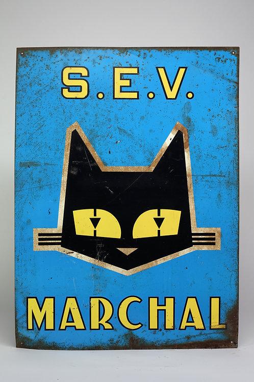 42 - Plaque émaillée S.E.V. MARCHAL
