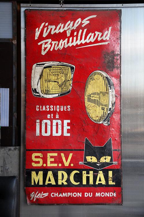 43 - Plaque émaillée S.E.V. MARCHAL
