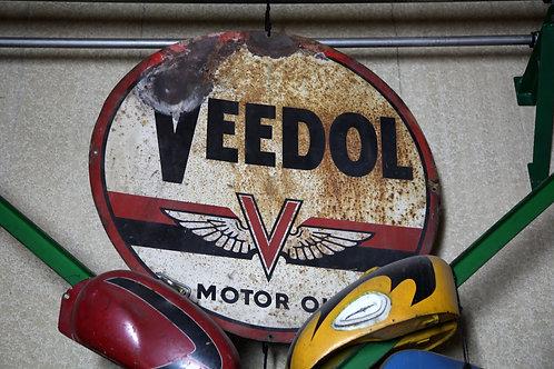 58 - Plaque émaillée VEEDOL Motor Oil