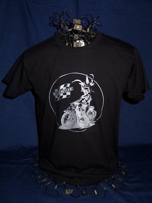 Tee-shirt noir, papou chrome - Modèle homme