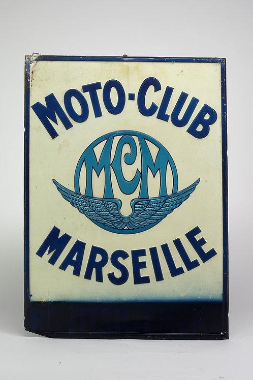 48 - Plaque émaillée MCM Moto Club Marseille