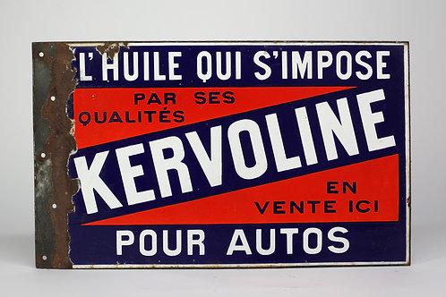 36- Plaque émaillée recto/verso KERVOLINE