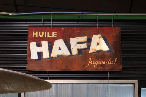 30 - Plaque émaillée Huile HAFA Jugez-là! (1)