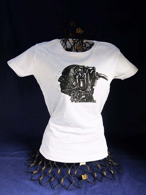 Tee-shirt, tête/machine - Modèle femme