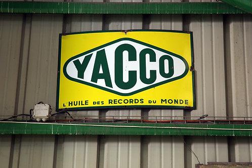 61 - Plaque émaillée YACCO L'huile des records du monde