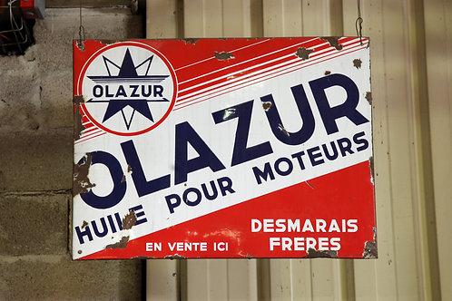 50 - Plaque émaillée OLAZUR