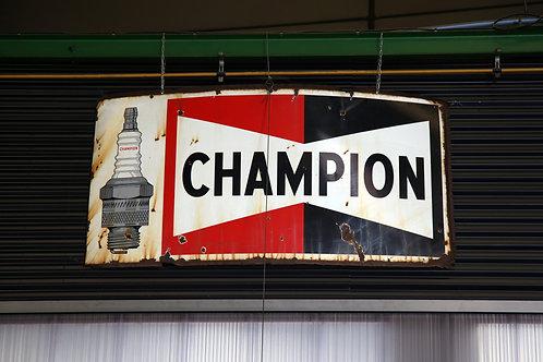 15 - Plaque émaillée grand modèle CHAMPION