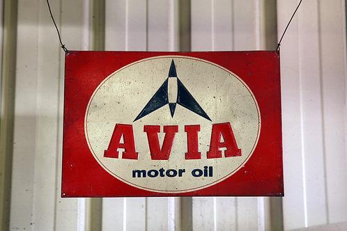 4 - Plaque émaillée AVIA Motor oil
