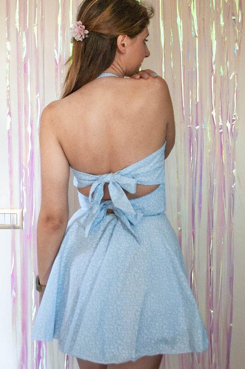 Ditsy Print Bow Dress