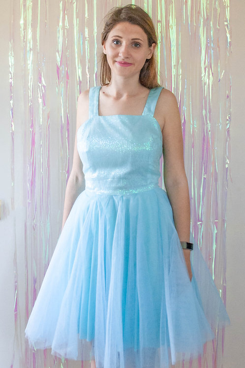Blue Mermaid Tutu Bow Dress