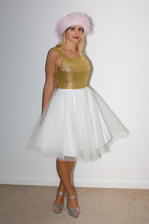 Gold Bow Tutu Dress SS