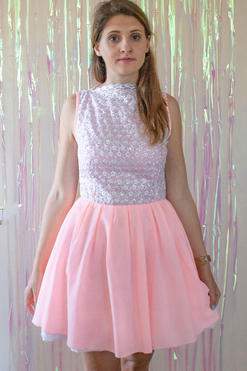 Pink Lace Sequin Dress SS