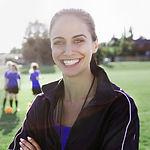 Vrouwelijke voetbalcoach