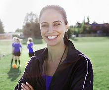 Weiblicher Fußballtrainer