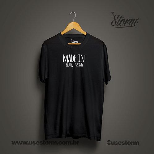 Camiseta Storm Made In Latitude/Longitude