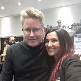 con Jeffrey Skouson a Edimburgo