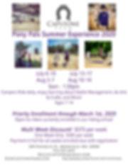 Capstone Farm Summer Camp 2020 Flyer Ear
