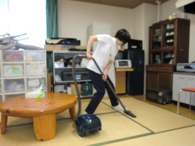 授業では掃除の作業を分析をするなんてこともしました