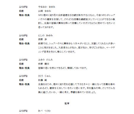理事・監事選挙