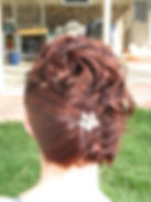 Formal updo swept to one side