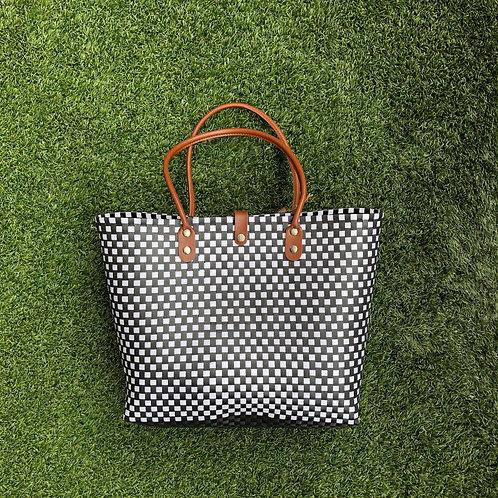 Small Checks Woven Bag (L)