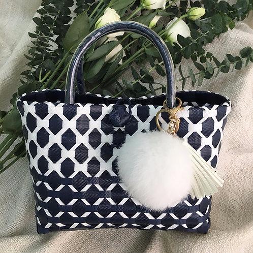Woven Bag (Navy Blue)