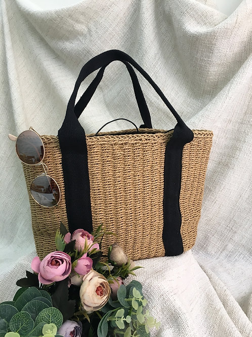 Straw Bag (Earthy Brown)