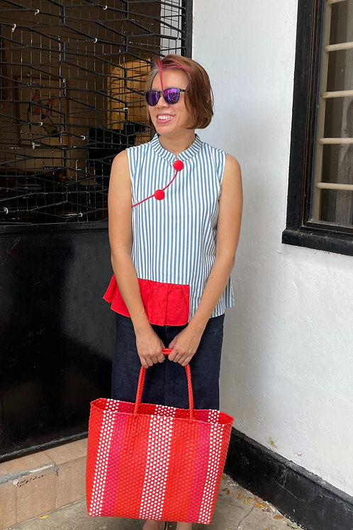 Adeline Handwoven Bag (Red)