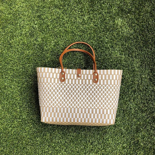 Criss Cross Woven Bag (Khaki)