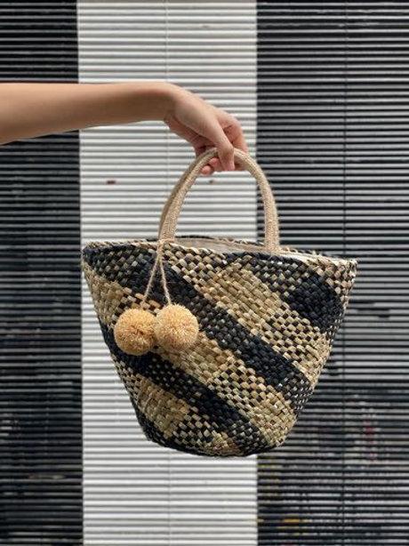 Palawan Straw Bag (Classic Black)