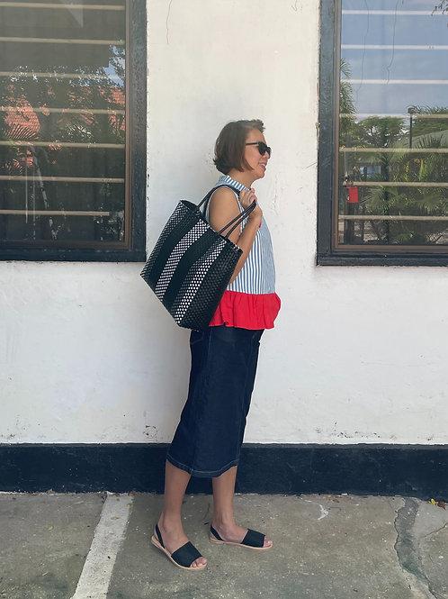 Adeline Handwoven Bag (Black)