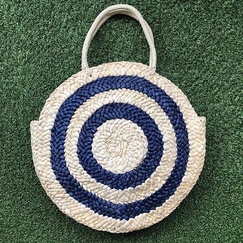 Malibu Straw Bag (Blue)