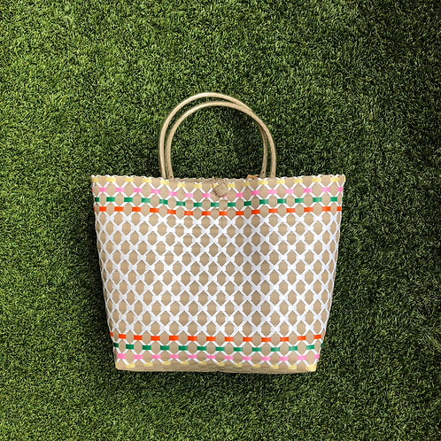 Multi Colour Woven Bag (Khaki)